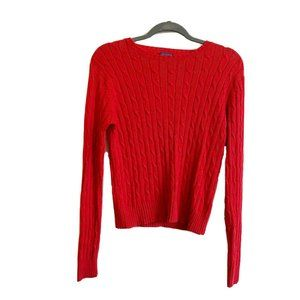 J. McLaughlin Cable Knit Crew Neck Sweater